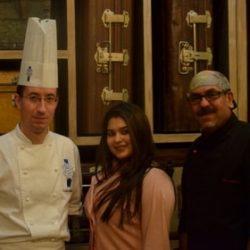 Chef Nicolas Houchet, Rachel Goenka and Irfan Pabaney